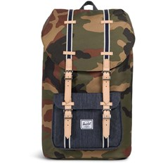 Backpack HERSCHEL - Little America Woodland Camo-Dark Denim (02166)