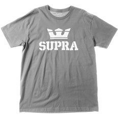 T-Shirt SUPRA - Above Regular Ss Tee Charcoal/Wht-Wht (052)
