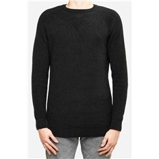 Sweatshirt REELL - Knitted Crewneck Black (BLACK)