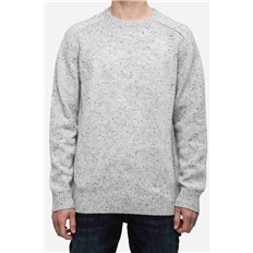 Cardigan REELL - Knitted Speckle Crewneck Grey Grey (Grey )