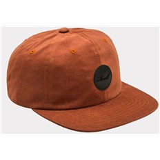 Caps REELL - Flat 6-Panel Burned Red (BURNED RED)