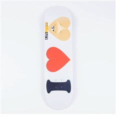 Deck ENJOI - I Heart Hearts R7 White (WHT)
