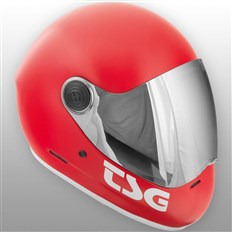 Helmet TSG - Pass Solid Color Satin Fire Red (158)