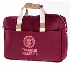 Shoulder bag FRANKLIN & MARSHALL - Classic reporter - bordeaux solid (30)