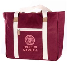 Bag FRANKLIN & MARSHALL - Classic shopper - bordeaux solid (30)