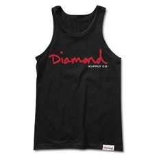 Tank Top DIAMOND - Og Script Tank Sp18 Black (BLK)