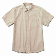 Shirt DIAMOND - Striped S/S Woven Tan (TAN)