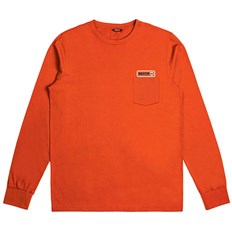 T-Shirt BRIXTON - Baldwin L/S Pkt Tee Orange (ORNGE)