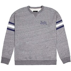Sweatshirt BRIXTON - Barton Crew Fleece Heather Grey (HTGRY)