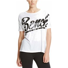 T-Shirt BENCH - Oversized Graphic Bright White  (WH001)