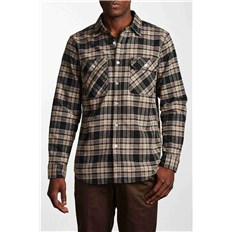 Shirt BRIXTON - Bowery L/S Flannel Black/Grey (BKGRY)