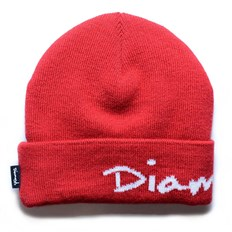 Beanie DIAMOND - Og Script Red Red (RED)