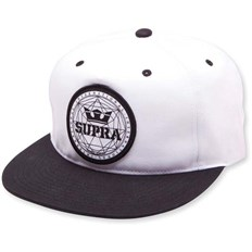 Caps SUPRA - Geo Patch Slider Hat Black/White (002)