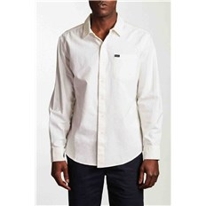 Shirt BRIXTON - Charter Oxford L/S Wvn Off White (OFFWH)