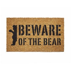 0 GRIZZLY - Beware Doormat Natural (NAT)