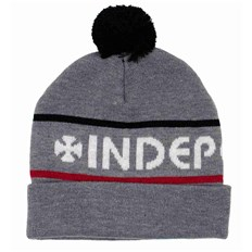Beanie INDEPENDENT - Indy Strip Heather Grey (HEA GREY)