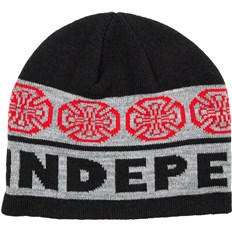 Beanie INDEPENDENT - Woven Crosses Beanie BlackCharcoal (BLACK-CHARCOAL)