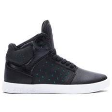 Shoes SUPRA - Kids Atom Black/Atlantis - White (BLK)