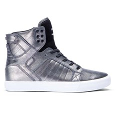 Shoes SUPRA - Kids Skytop Pewter/Black-White (PTB)