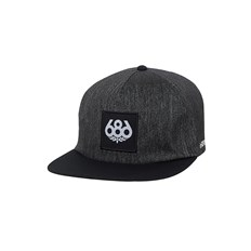 686 - Knockout Snapback Hat Black Denim (BLKD)