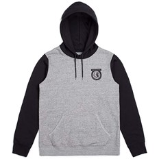 Sweatshirt BRIXTON - Native Hood Fleece Heather Grey/Black (HTGBK)