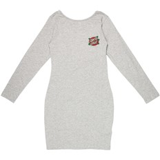 Dress SANTA CRUZ - Rose Dot LS Dress Grey Heather (GREY HEATHER)