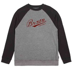 T-shirt BRIXTON - Fenway Heather Grey/Black (0335)
