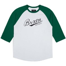 T-Shirt BRIXTON - Fenway White/Green (0204)