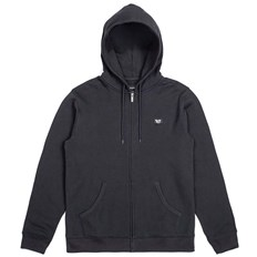Sweatshirt BRIXTON - Trig Zip Hood Fleece Black (BLACK)