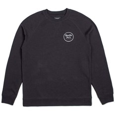 Sweatshirt BRIXTON - Wheeler Crew Fleece Black/White (BKWHT)