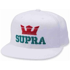 Caps SUPRA - Above Snap Back Hat White-Red-Tea (127)