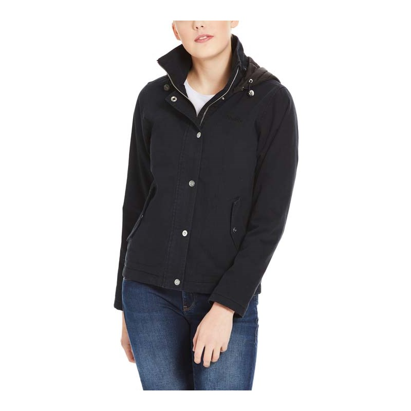 Jacke BENCH - Cotton Jacket With Quilted Hood Black Beauty (BK11179)