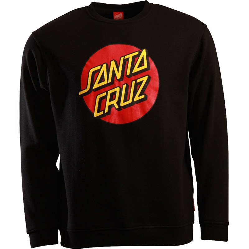 Sweatshirt SANTA CRUZ - Classic Dot Black (BLACK)