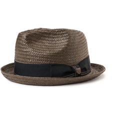 Hut BRIXTON - Castor Fedora Washed Black/Gold (WABKD)