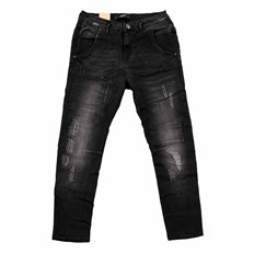 Hosen ICHI - Boyfriend Ilvy Dark Grey Washed (19042)