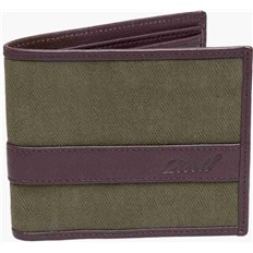 Geldtasche REELL - Canvas Leather Wallet Olive (OLIVE)