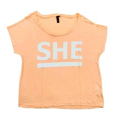 Tshirt BLEND SHE - Cley She Tee Tropical Peach (20024)