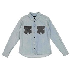 Hemd BLEND SHE - Adel Patch Shirt Bleached Lg. Blue (29029)