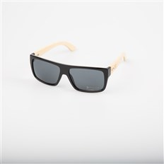 Sonnenbrille SNOWBITCH - black frame and smoke lens natural bamboo (BLACK)