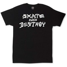 Tshirt THRASHER - Thrasher Skate And Destroy T-Shirt Black (BLACK)