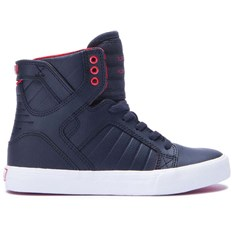 Schuhe SUPRA - Kids Skytop Black/Red-White (030)