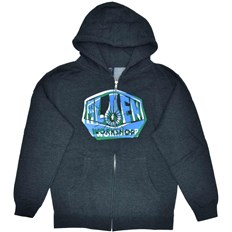 Sweatshirt ALIEN WORKSHOP - Og Shift Youth Zipup Chrcl Hthr (SEDA)