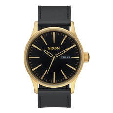 Armbanduhr NIXON - Sentry Leather Goldblack (513)