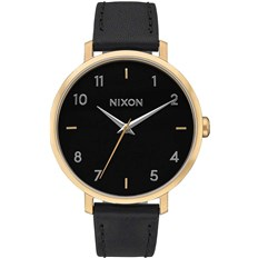 Armbanduhr NIXON - Arrow Leather Goldblack (513)