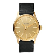 Armbanduhr NIXON - Sentry 38 Leather Gold Black (513)