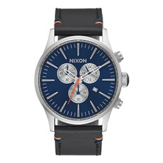 Armbanduhr NIXON - Sentry Chrono Leather Bluesunray (1258)