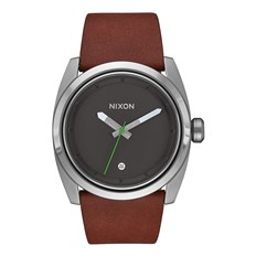 Armbanduhr NIXON - Kingpin Leather Silver Brown (1113)