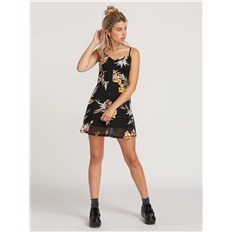 Kleid VOLCOM - Slushy Hour Dress Black Combo (BLC)