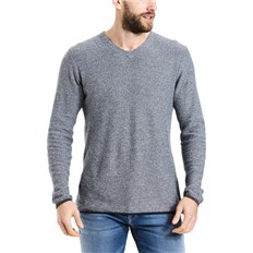 Pullover BENCH - Structured V Neck Dark Navy Blue (NY031)