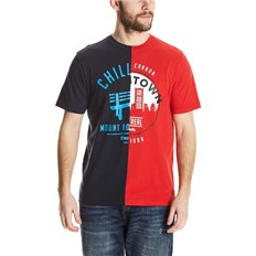 BENCH - Cut&Sew Tee Total Eclipse + Ribbon Red (P1162)